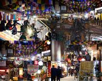 泰國街道集市攝影高清圖片