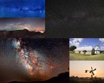 星空背景景观摄影高清图片