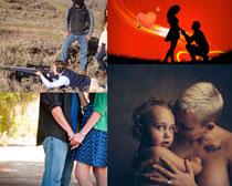 關愛愛情攝影高清圖片