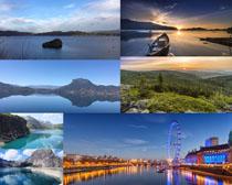 美丽的湖泊风景摄影高清图片