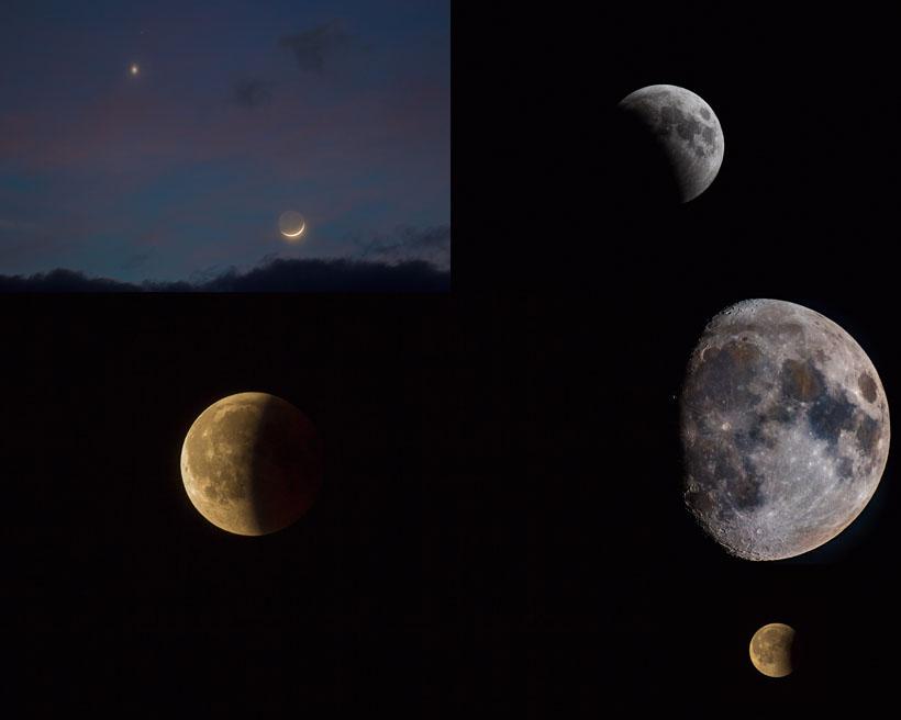 黑夜月亮风景摄影高清图片
