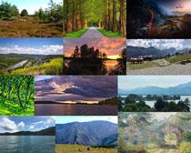 山水树木风光摄影高清图片