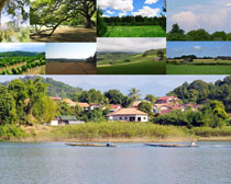 草原湖泊天空风景摄影高清图片