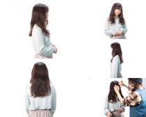 卷发日本美女拍摄高清图片