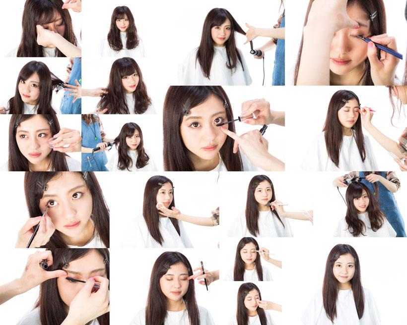 化妆睫毛的美女摄影高清图片
