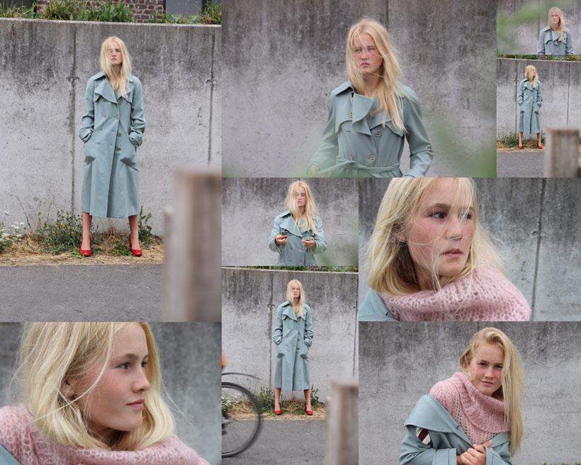 欧美美女模特户外拍摄高清图片