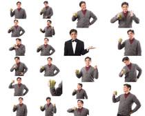 喝果汁的男人拍摄高清图片