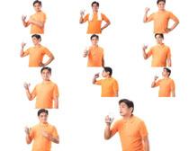 喝果汁表情男人摄影高清图片