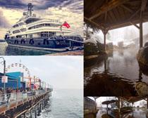 大型輪船交通工具攝影高清圖片