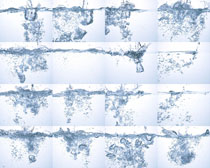 冰块与飞溅的水摄影高清图片