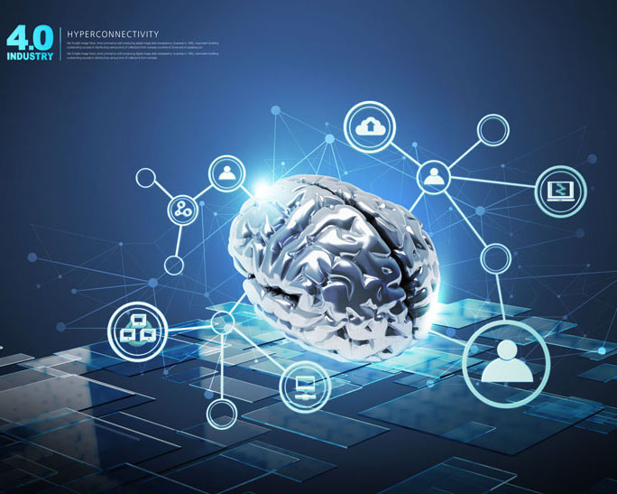 现代科技大脑PSD素材