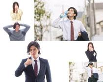 職業煩惱男女攝影高清圖片