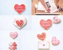 情人节爱心饼干摄影高清图片