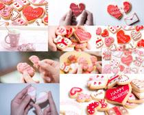 爱心甜美小饼干摄影高清图片