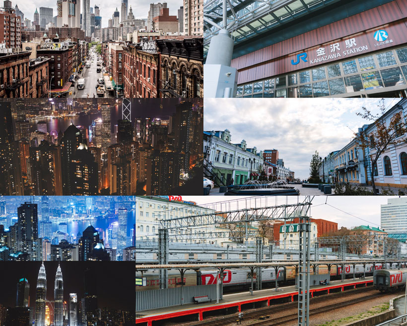 欧美城市建筑景观拍摄高清图片