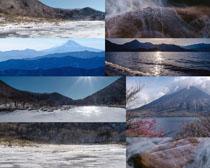 山峰湖水风景拍摄高清图片