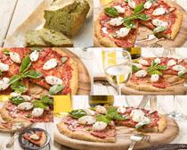 美食披萨展示摄影高清图片
