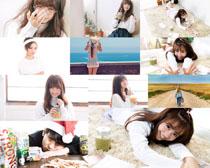 可爱韩国女孩拍摄高清图片