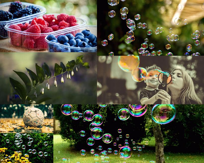 泡泡与风景拍摄高清图片