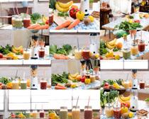 蔬菜水果汁展示摄影高清图片