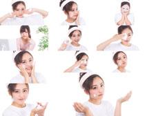 美女护理脸部摄影高清图片