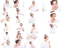美女美容护理摄影高清图片