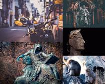 艺术塑像作品拍摄高清图片