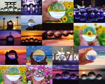 透明球体展示拍摄高清图片