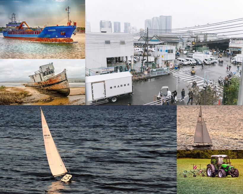 渔船交通工具拍摄高清图片
