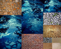 石头与墙壁拍摄高清图片
