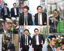韓國西服男人拍攝高清圖片