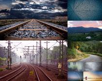 道路铁路风光拍摄高清图片