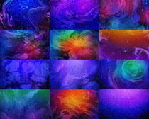 融合炫彩颜色背景拍摄高清图片