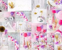 气球派对装饰物拍摄高清图片