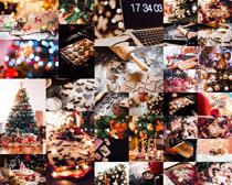 圣誕餅干與樹拍攝高清圖片
