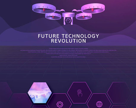 紫色科技网页背景PSD素材