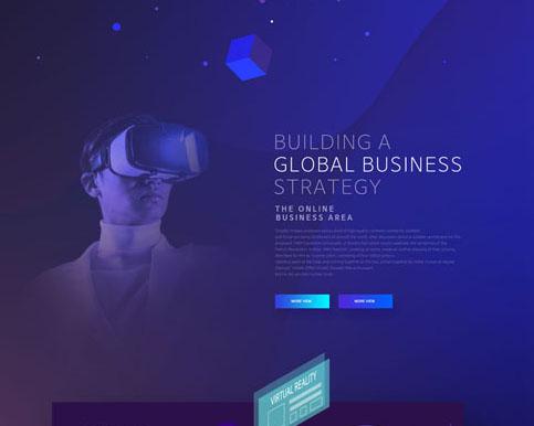 5D科技眼鏡網頁模板PSD素材