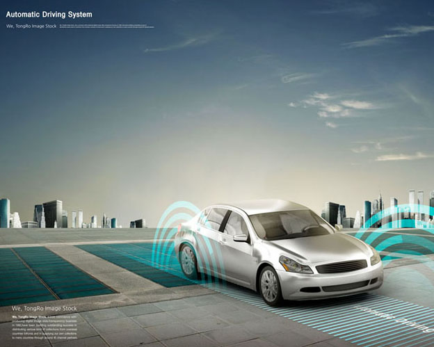 未来发展汽车史展示PSD素材