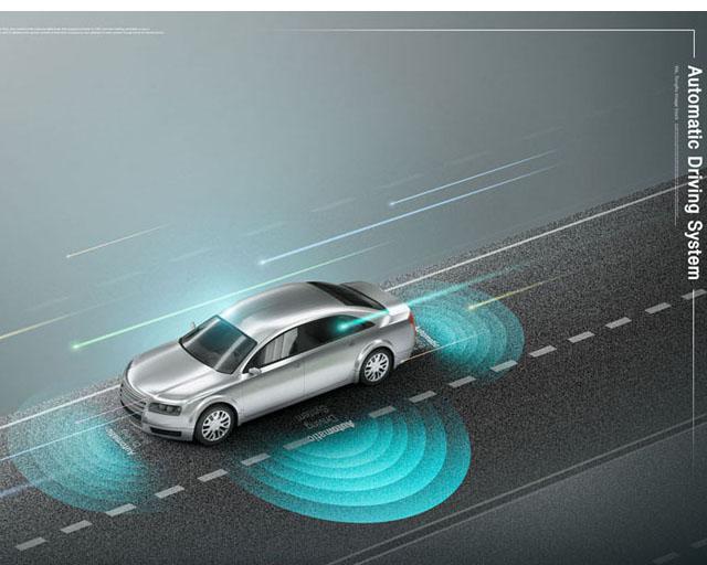 汽车雷达科技PSD素材