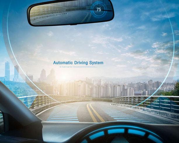 汽车视角先进技术PSD素材