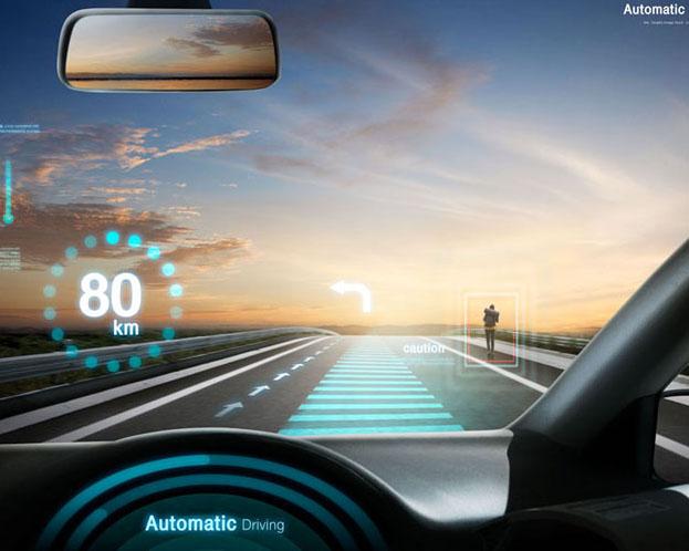 汽车定速技术展示PSD素材