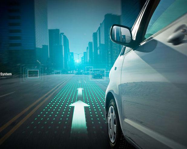 汽车与道路视角摄影高清图片