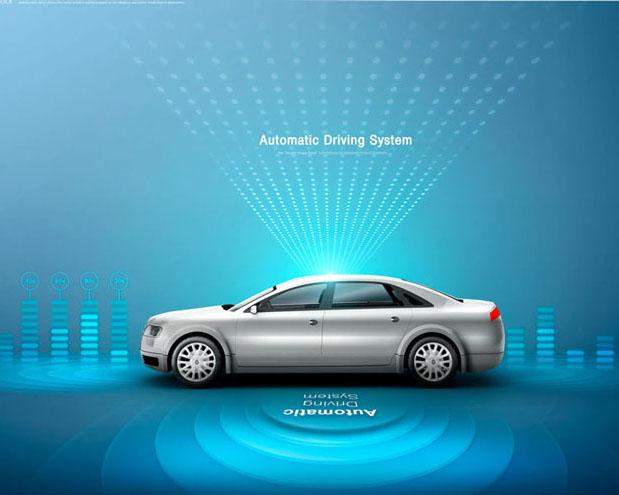 汽车技术海报PSD素材