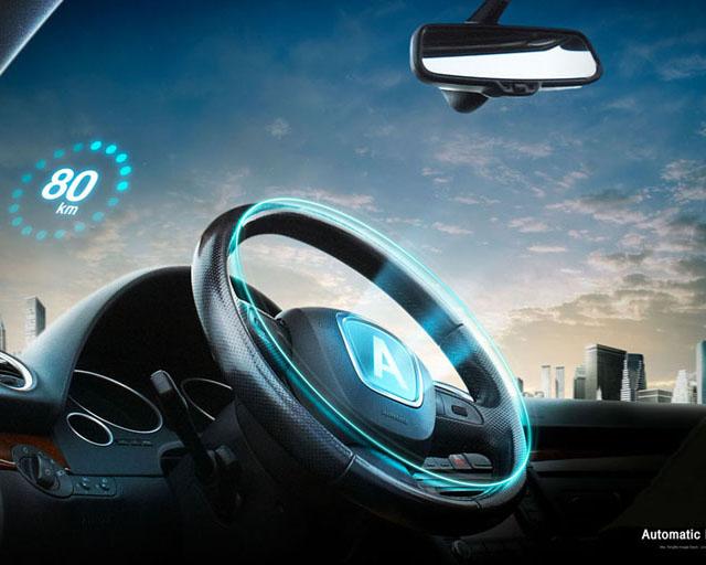 汽车方向盘展示PSD素材