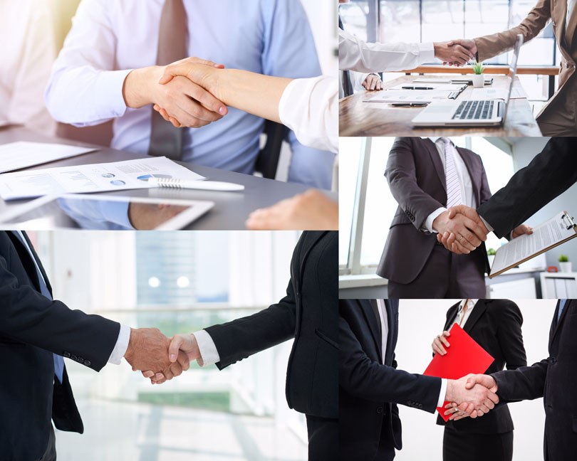 商務握手的男人拍攝高清圖片