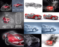 動感汽車設計攝影高清圖片