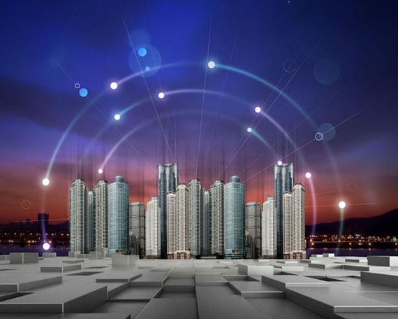未来科技建筑景观PSD素材