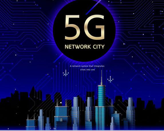 5G时代通信PSD素材