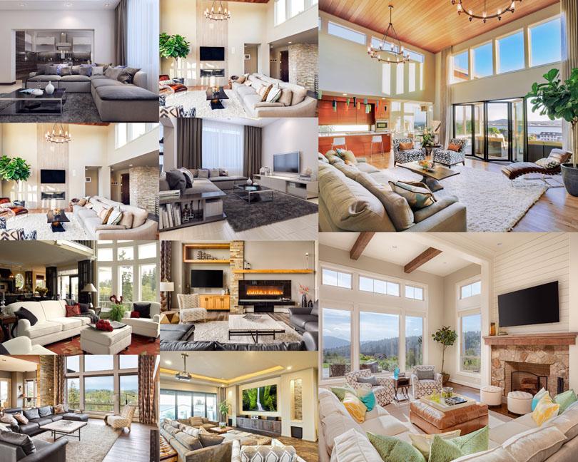 家庭室內設計風格攝影高清圖片