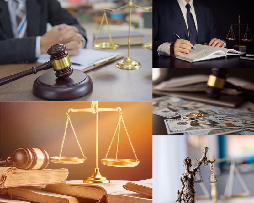 法律平衡金融摄影高清图片